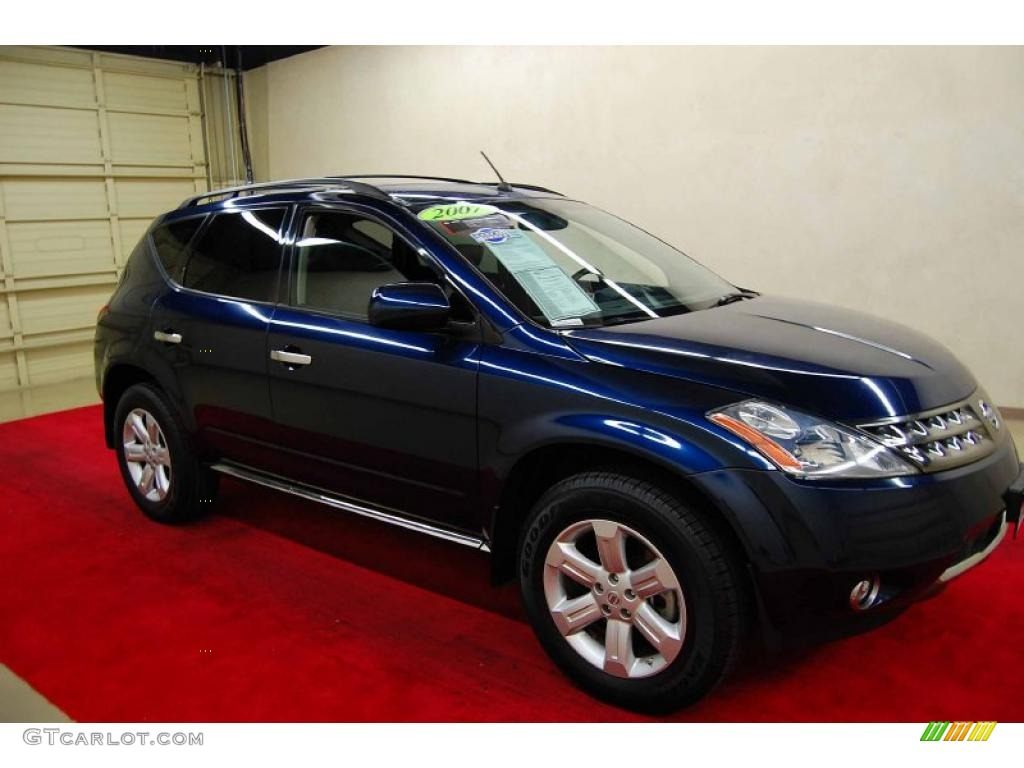 2007 Murano SL - Midnight Blue Pearl / Charcoal photo #1