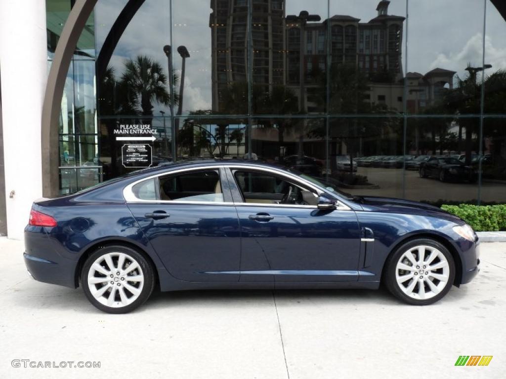 Awesome 2010 XF Premium Sport Sedan   Indigo Blue Metallic / Barley Photo #10
