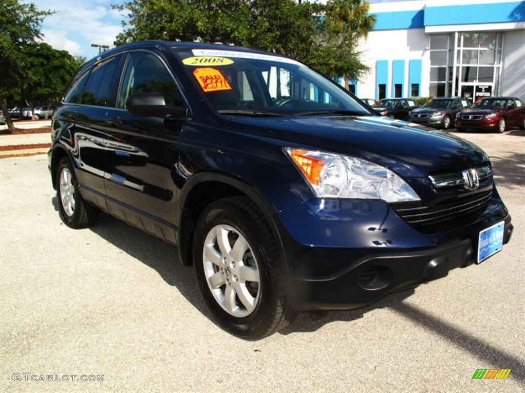 2008 CR-V EX - Royal Blue Pearl / Gray photo #1