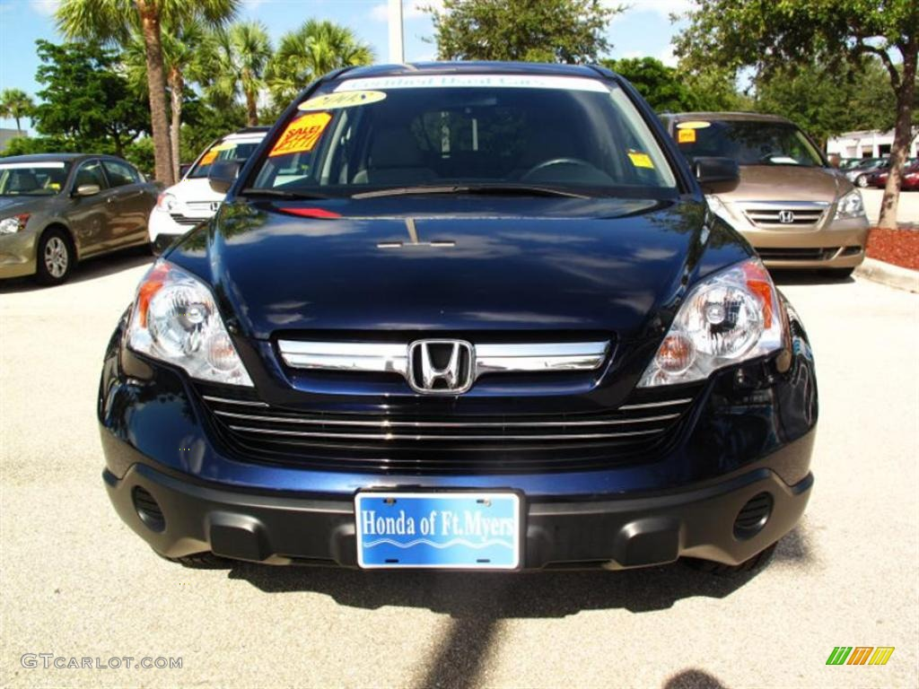2008 CR-V EX - Royal Blue Pearl / Gray photo #7