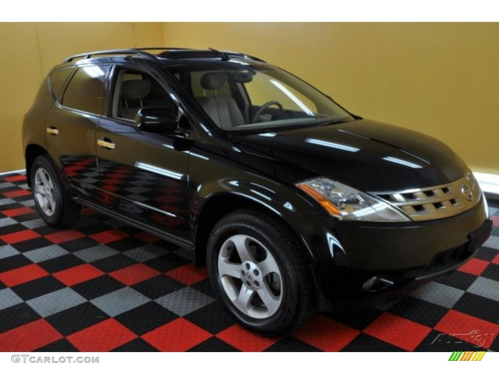 2005 super black nissan murano sl awd 35899914 car color galleries. Black Bedroom Furniture Sets. Home Design Ideas