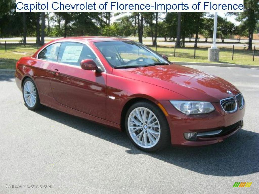 2011 Vermillion Red Metallic Bmw 3 Series 335i Convertible 35975276