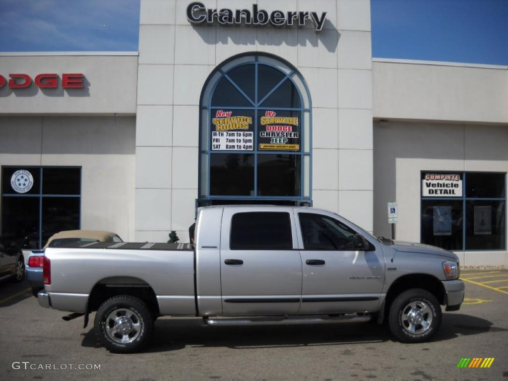 2006 Ram 1500 SLT Mega Cab 4x4 - Bright Silver Metallic / Medium Slate Gray photo #1