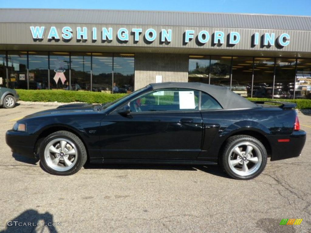 2001 Mustang GT Convertible - Black / Dark Charcoal photo #1