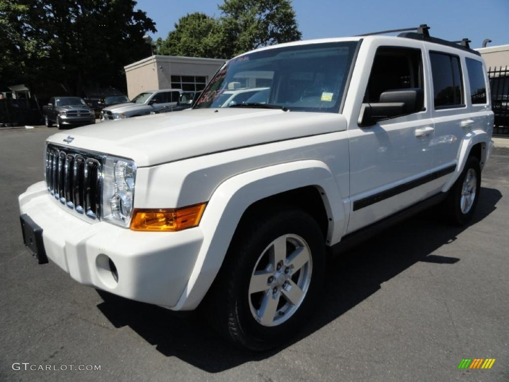 2007 stone white jeep commander sport 4x4 #35999540 photo #8