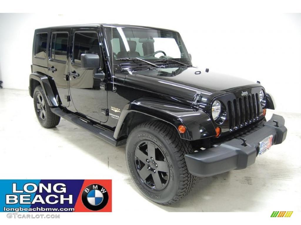 2007 black jeep wrangler unlimited sahara 35999078. Black Bedroom Furniture Sets. Home Design Ideas