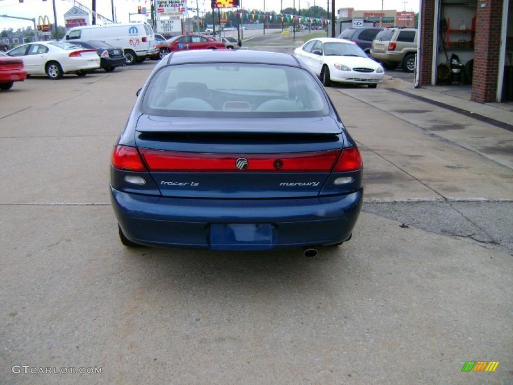 1998 tracer ls sedan atlantic blue medium flint gray photo 4