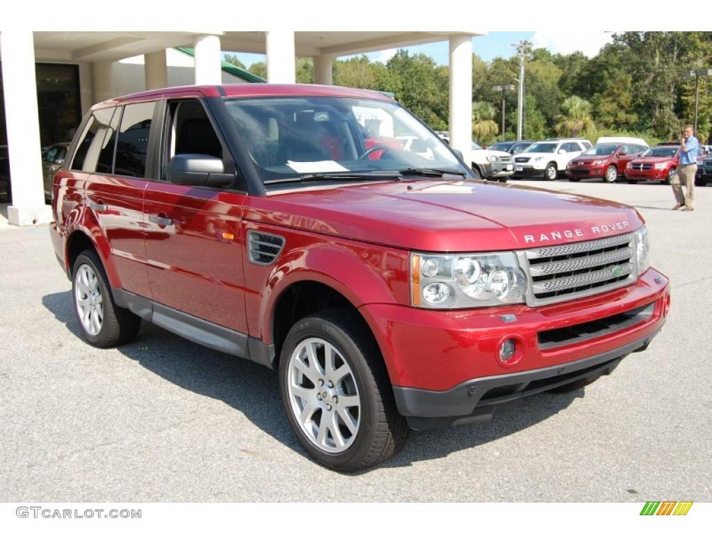2008 Rimini Red Metallic Land Rover Range Rover Sport Hse 36063875 Car Color