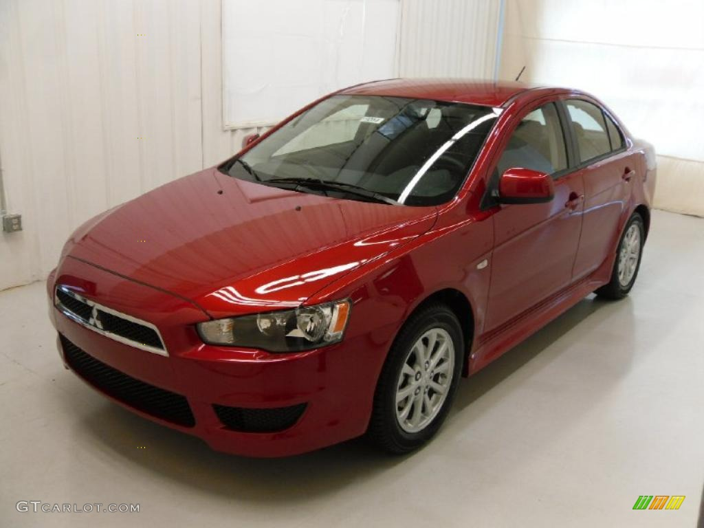 2011 Lancer ES   Rally Red Metallic / Black Photo #1