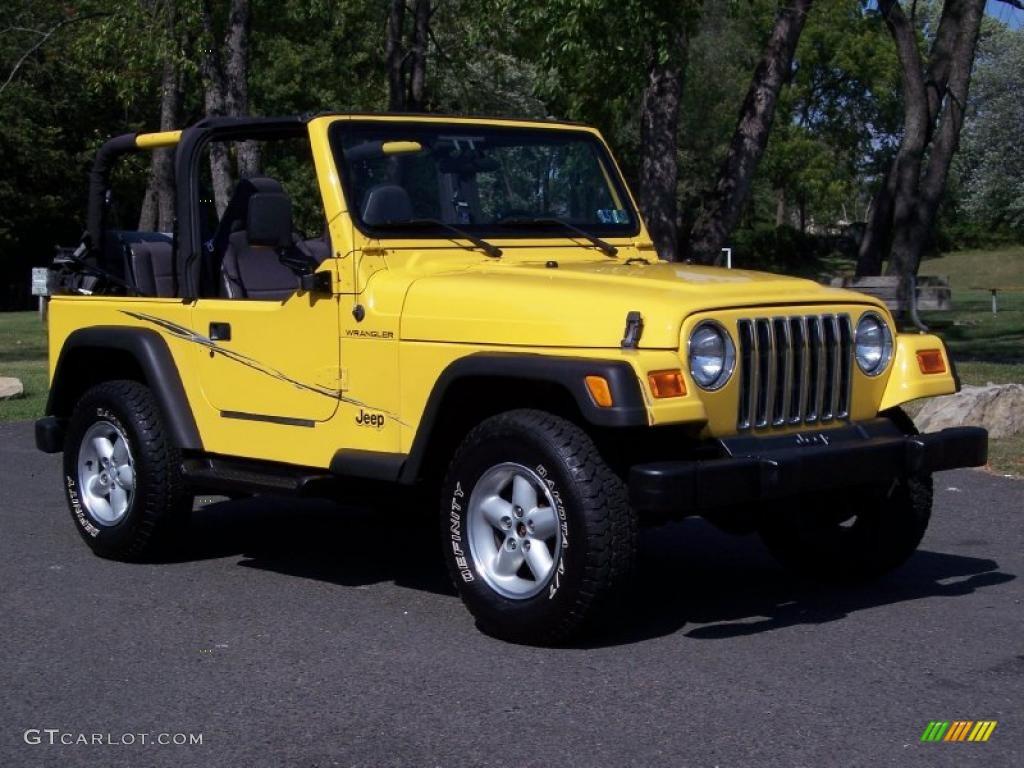 2001 Solar Yellow Jeep Wrangler Se 4x4 36063879