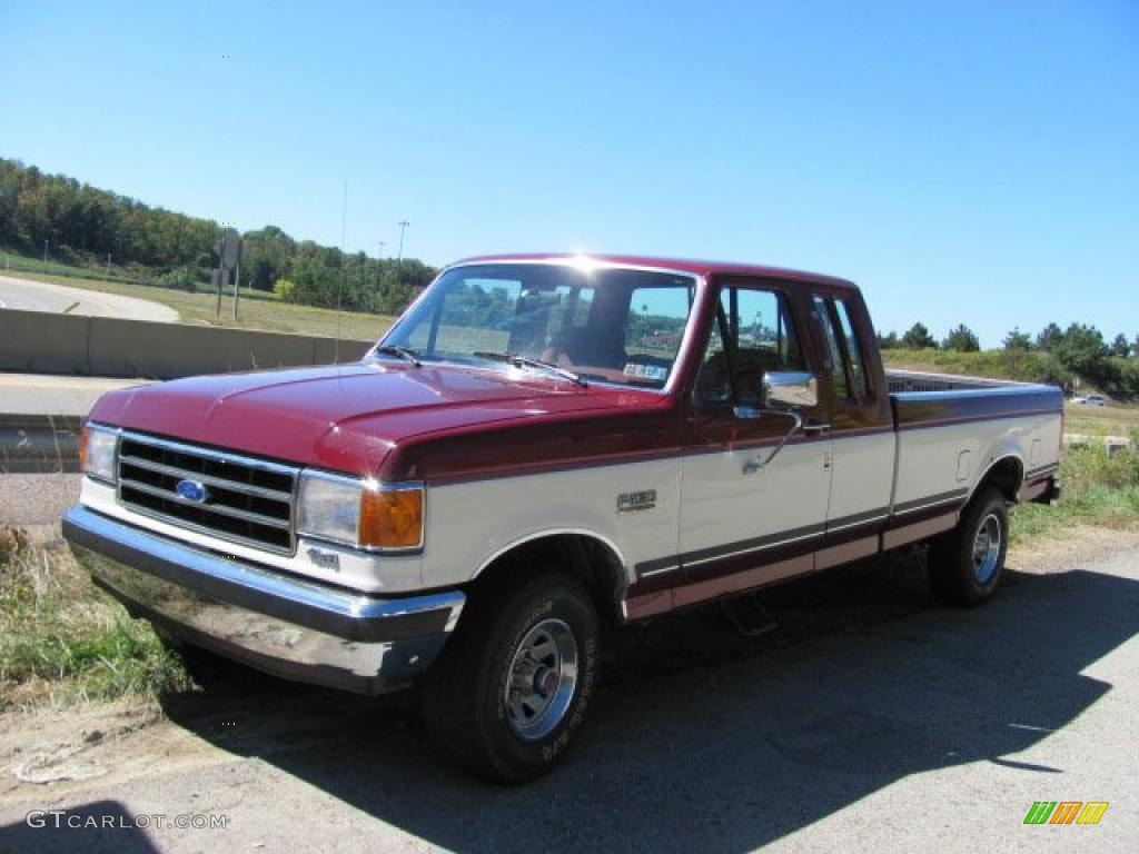 1990 medium cabernet ford f150 xlt lariat extended cab 36063561 car color. Black Bedroom Furniture Sets. Home Design Ideas