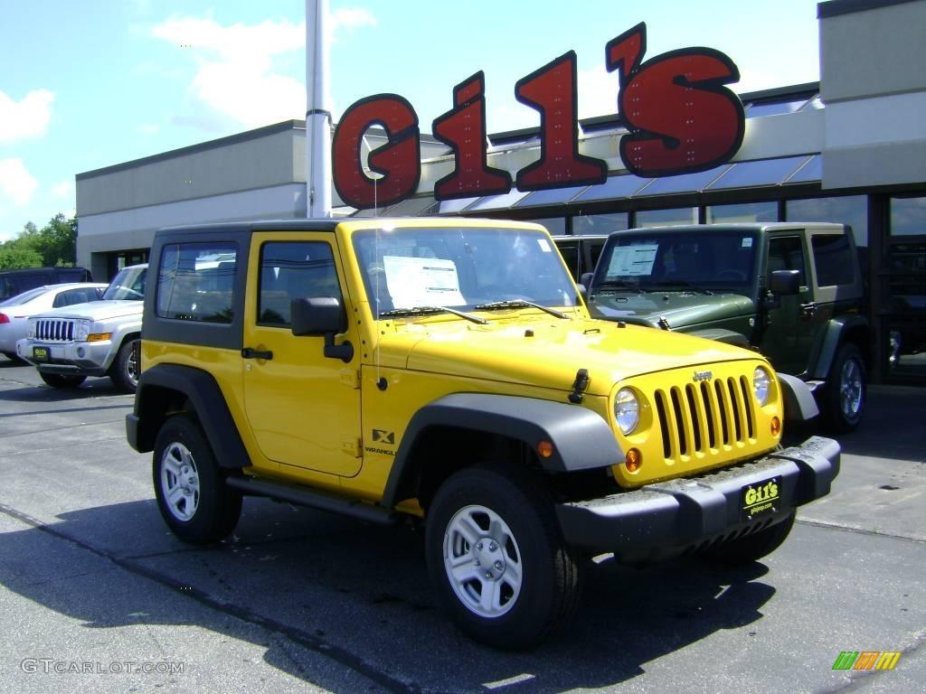 2008 Detonator Yellow Jeep Wrangler X 4x4 3571857 Gtcarlot Com