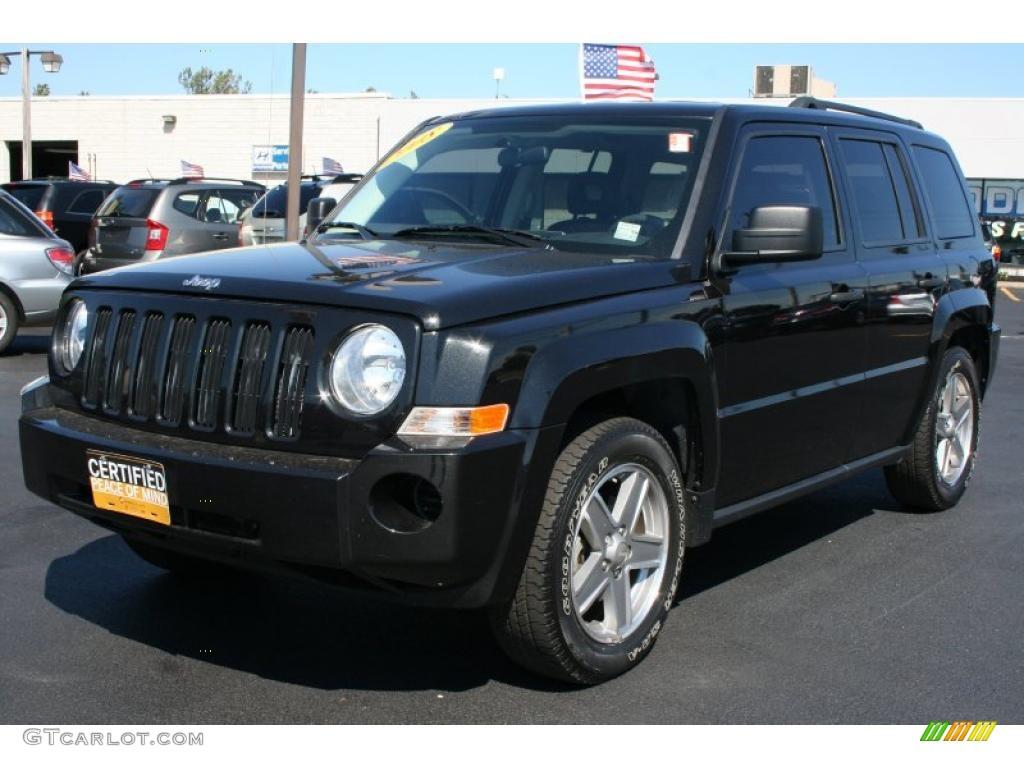 2008 brilliant black crystal pearl jeep patriot sport 4x4