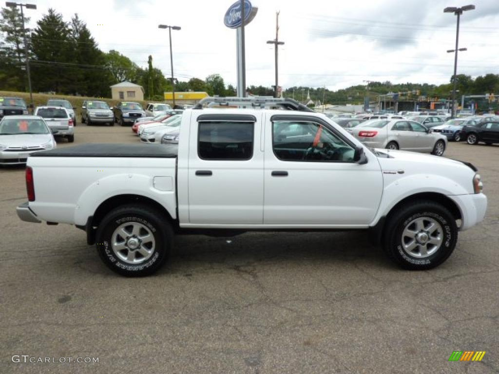2003 avalanche white nissan frontier sc v6 crew cab 4x4. Black Bedroom Furniture Sets. Home Design Ideas