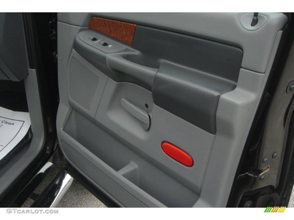 2007 Ram 3500 Laramie Mega Cab 4x4 Dually - Brilliant Black Crystal Pearl / Medium Slate Gray photo #20