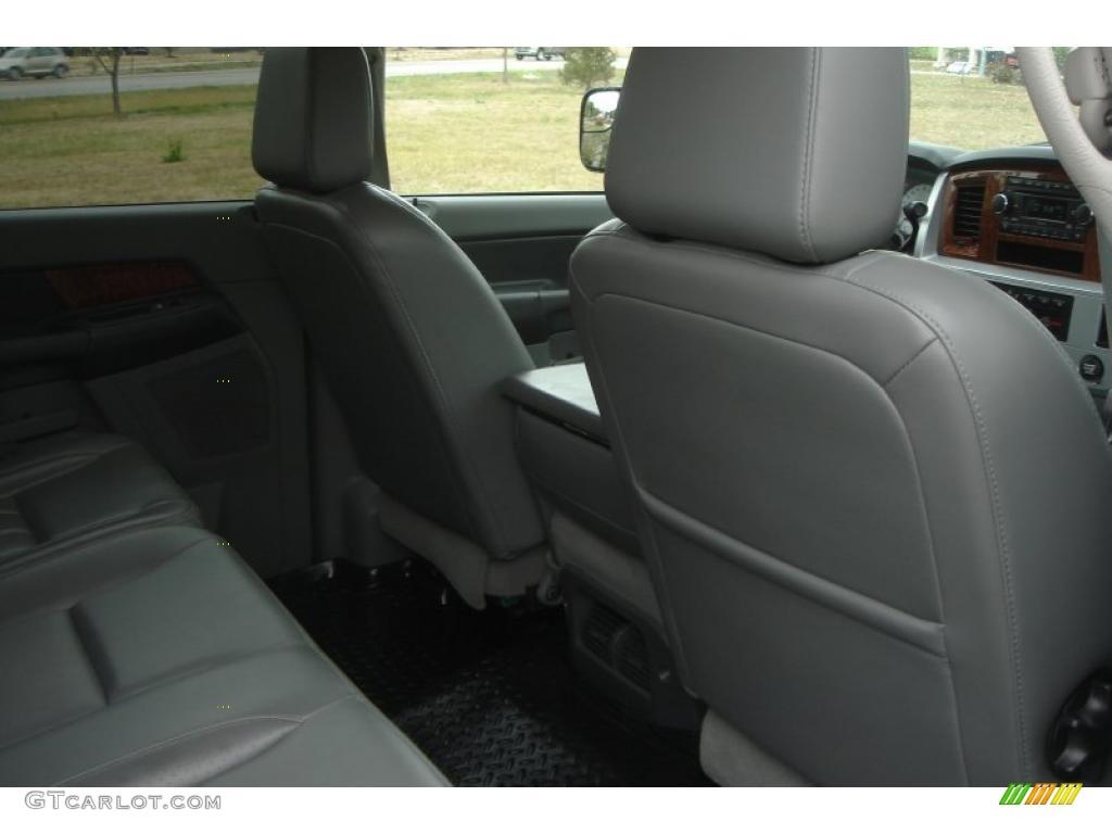 2007 Ram 3500 Laramie Mega Cab 4x4 Dually - Brilliant Black Crystal Pearl / Medium Slate Gray photo #24