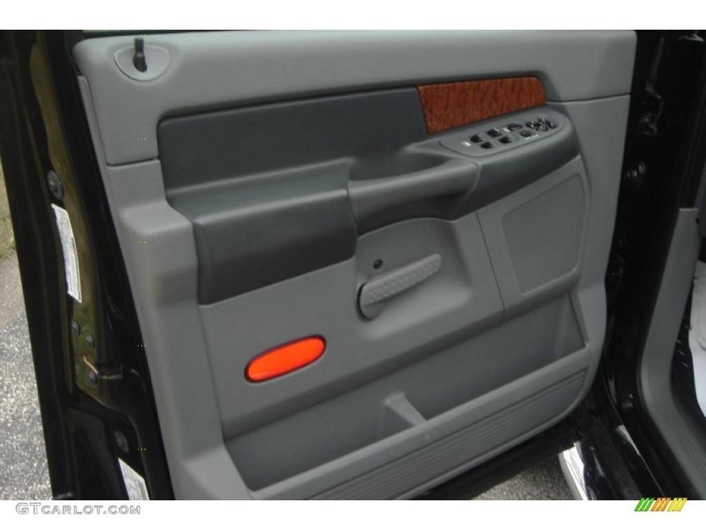 2007 Ram 3500 Laramie Mega Cab 4x4 Dually - Brilliant Black Crystal Pearl / Medium Slate Gray photo #30