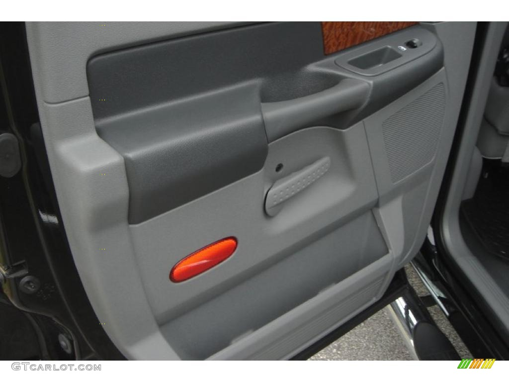 2007 Ram 3500 Laramie Mega Cab 4x4 Dually - Brilliant Black Crystal Pearl / Medium Slate Gray photo #48