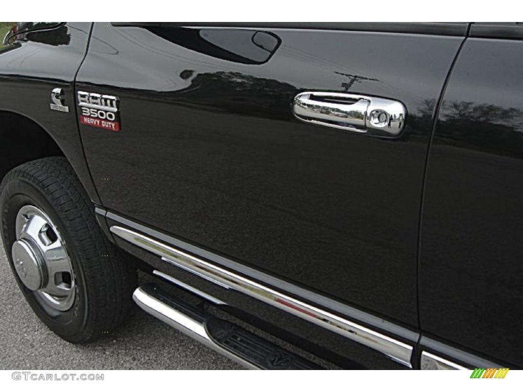 2007 Ram 3500 Laramie Mega Cab 4x4 Dually - Brilliant Black Crystal Pearl / Medium Slate Gray photo #60