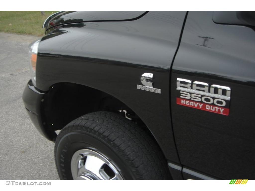 2007 Ram 3500 Laramie Mega Cab 4x4 Dually - Brilliant Black Crystal Pearl / Medium Slate Gray photo #61