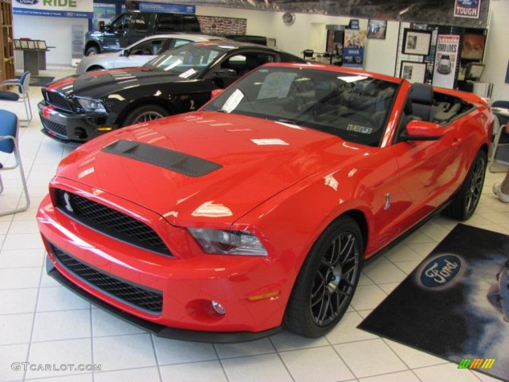 2011 Mustang Shelby GT500 SVT Performance Package Convertible - Race Red / Charcoal Black/Black photo #1