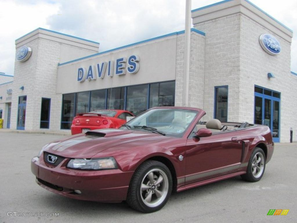 2004 40th anniversary crimson red metallic ford mustang gt. Black Bedroom Furniture Sets. Home Design Ideas