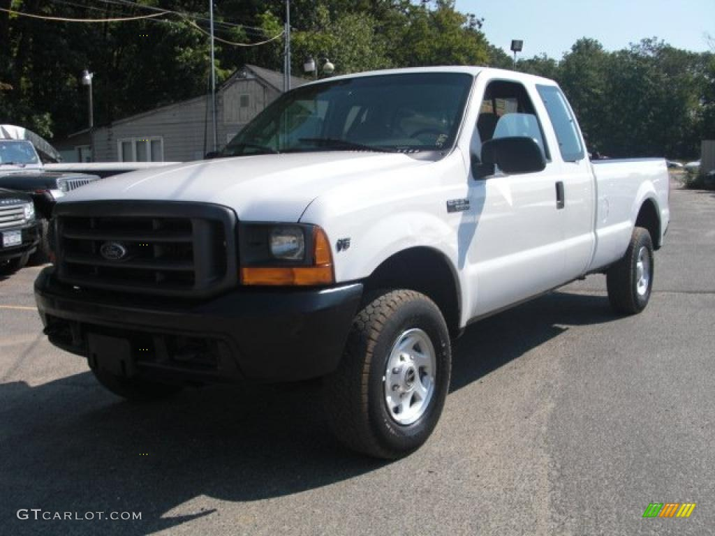 2000 f250 super duty xl extended cab oxford white medium graphite photo 1