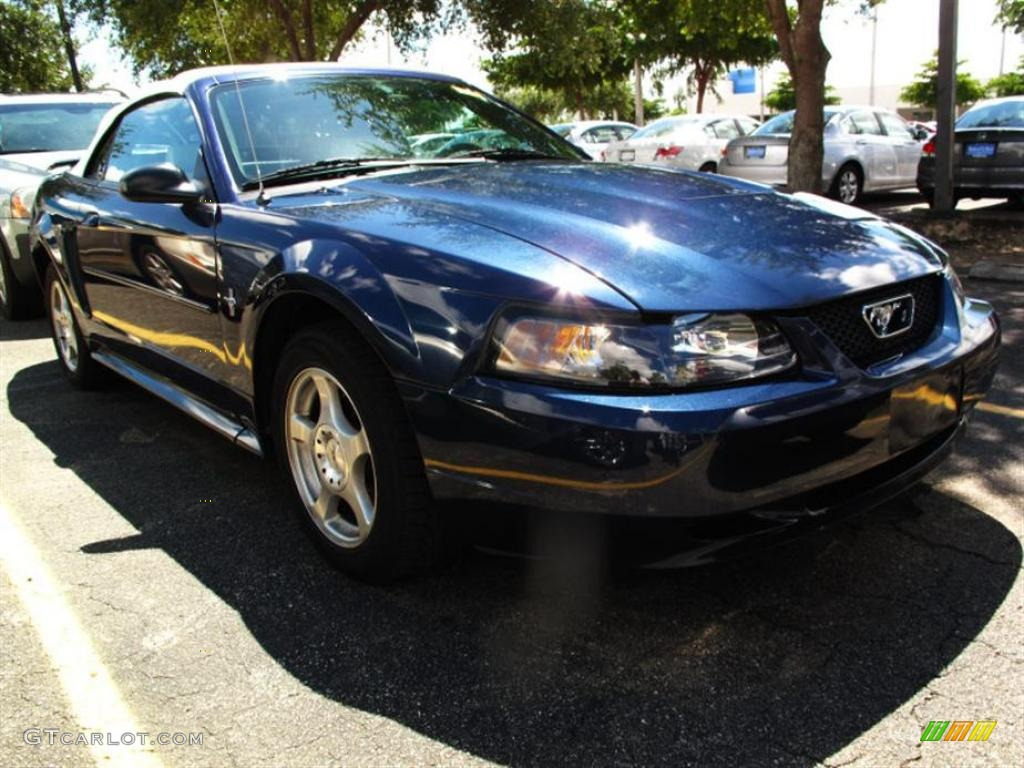 True Blue Metallic Ford Mustang V6 Convertible