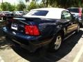 2003 True Blue Metallic Ford Mustang V6 Convertible  photo #2