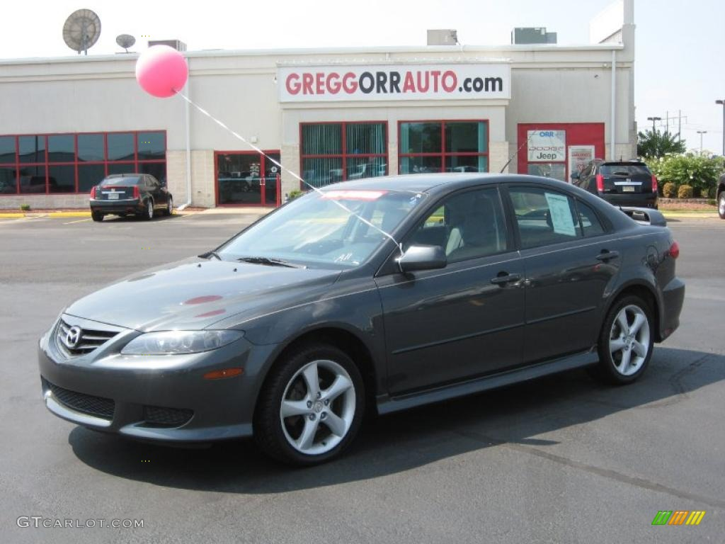 2005 steel gray metallic mazda mazda6 i sport hatchback #36347382