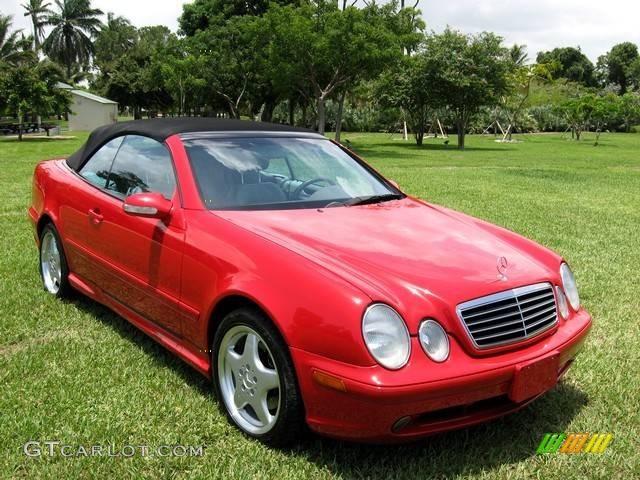 2000 magma red mercedes benz clk 430 cabriolet 354216 for Mercedes benz clk 430 repair manual