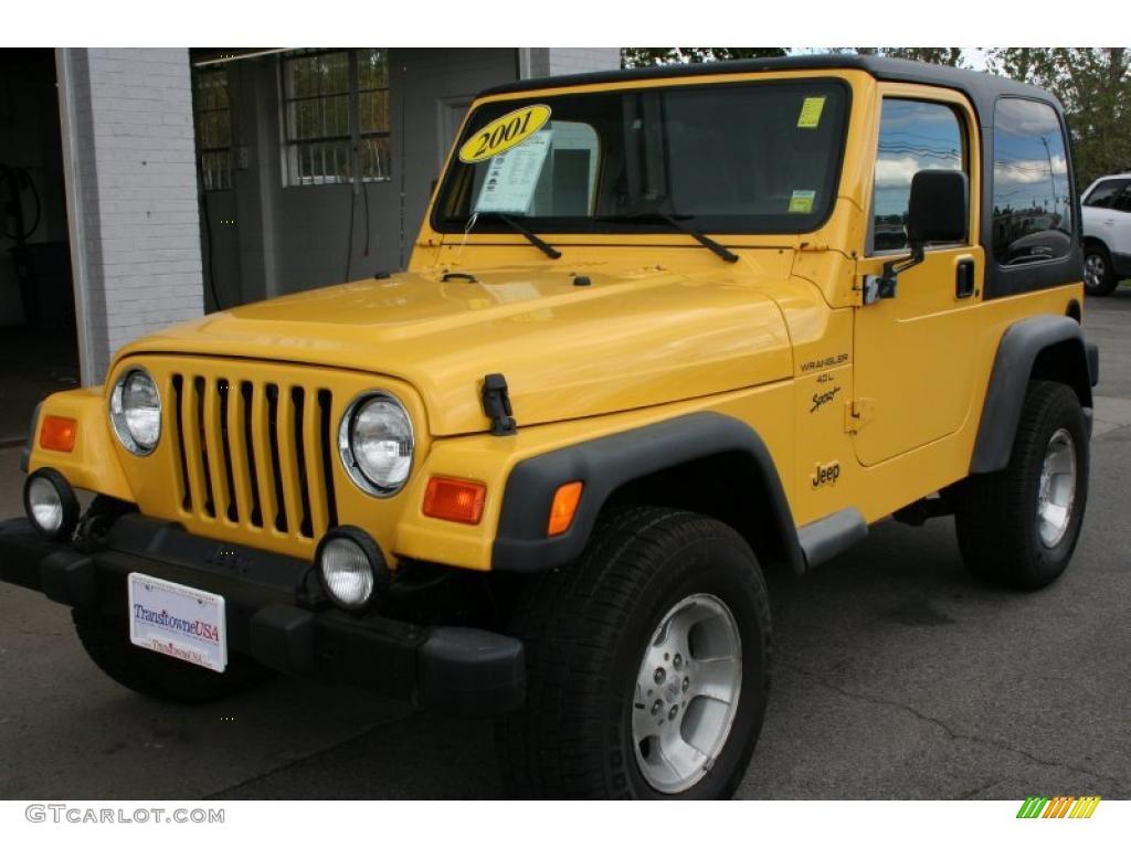 Solar yellow jeep wrangler