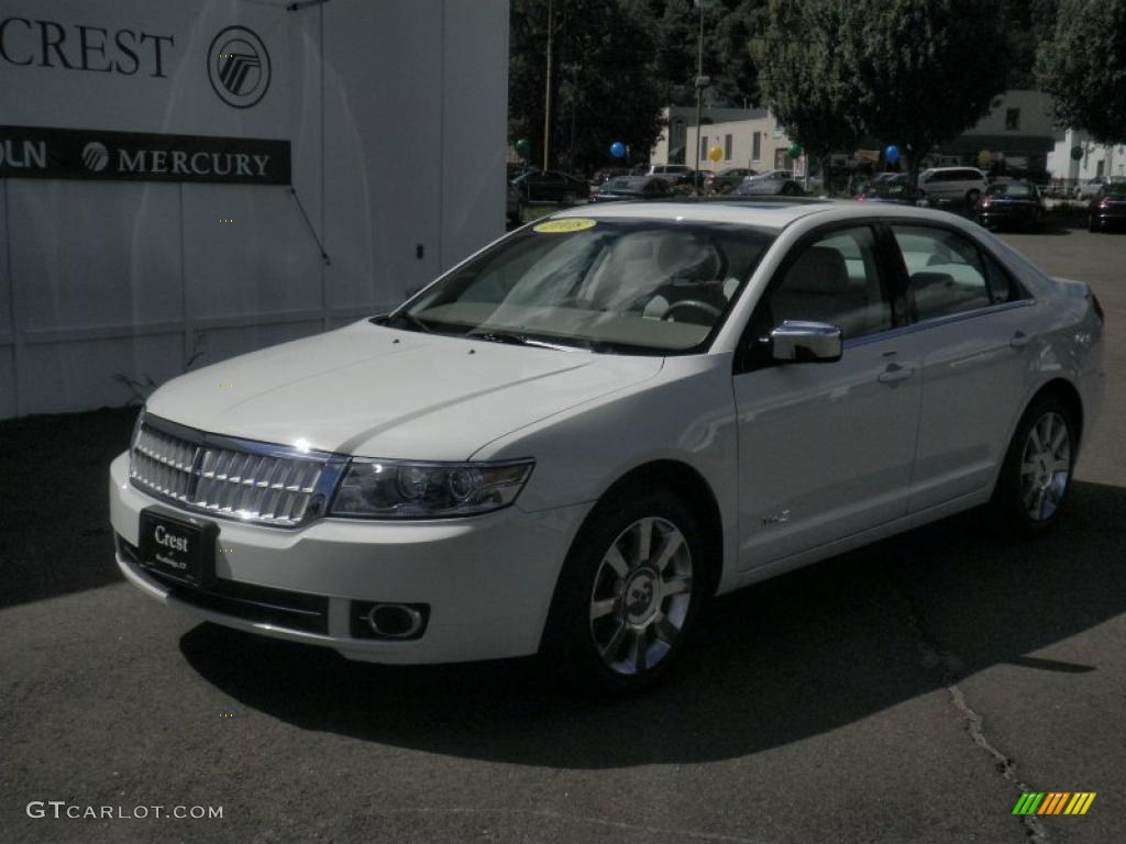 2008 MKZ AWD Sedan - White Suede / Light Stone photo #1
