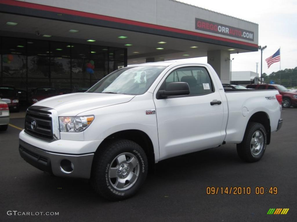 2011 super white toyota tundra trd regular cab 4x4. Black Bedroom Furniture Sets. Home Design Ideas