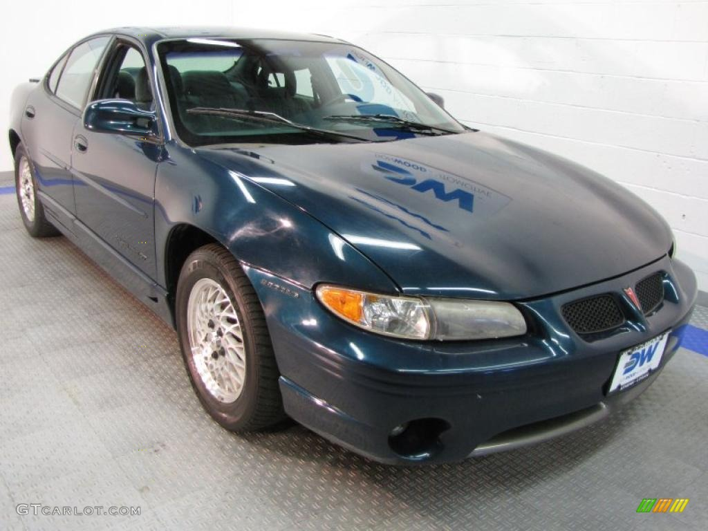 1997 dark teal metallic pontiac grand prix gt sedan 36480432 car color galleries. Black Bedroom Furniture Sets. Home Design Ideas