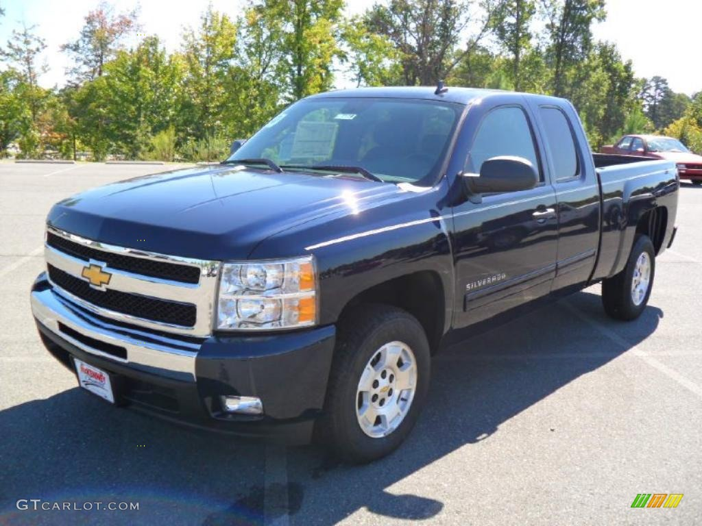 2011 Silverado 1500 LT Extended Cab - Imperial Blue Metallic / Ebony photo #1