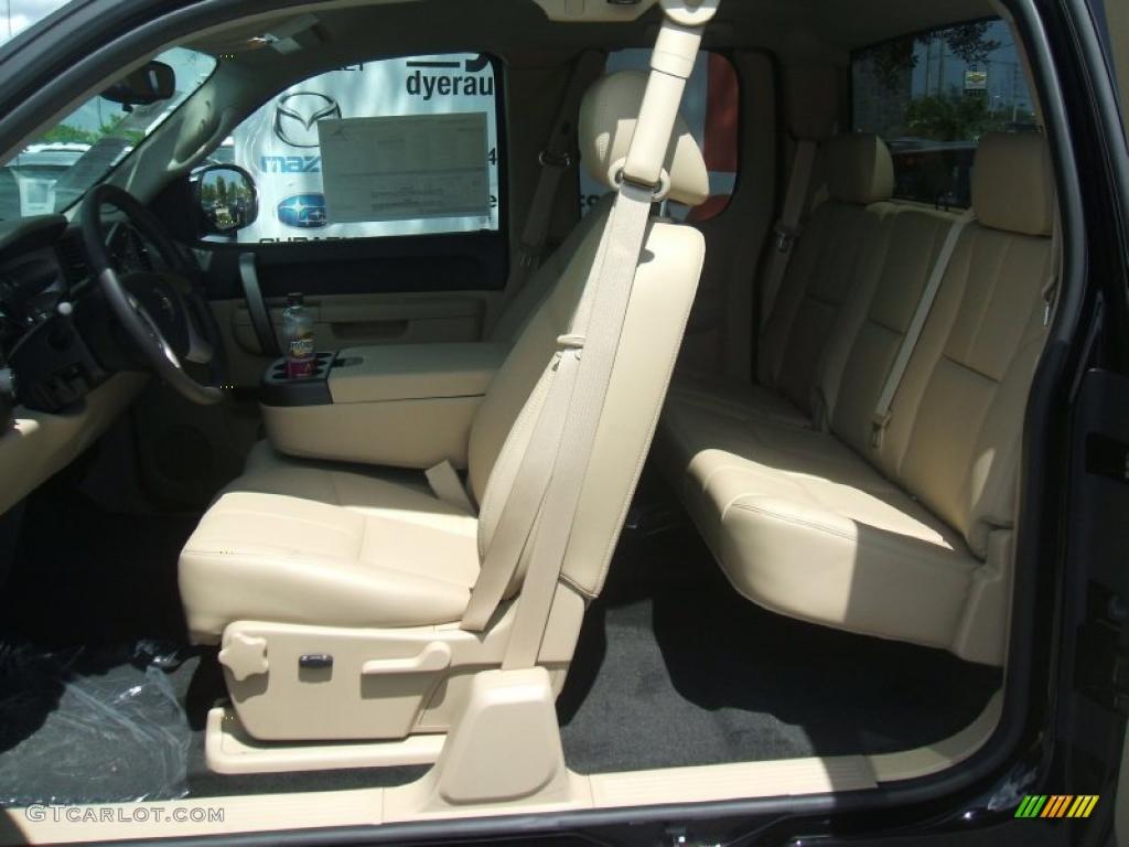 2011 Silverado 1500 LT Extended Cab - Black / Light Cashmere/Ebony photo #9
