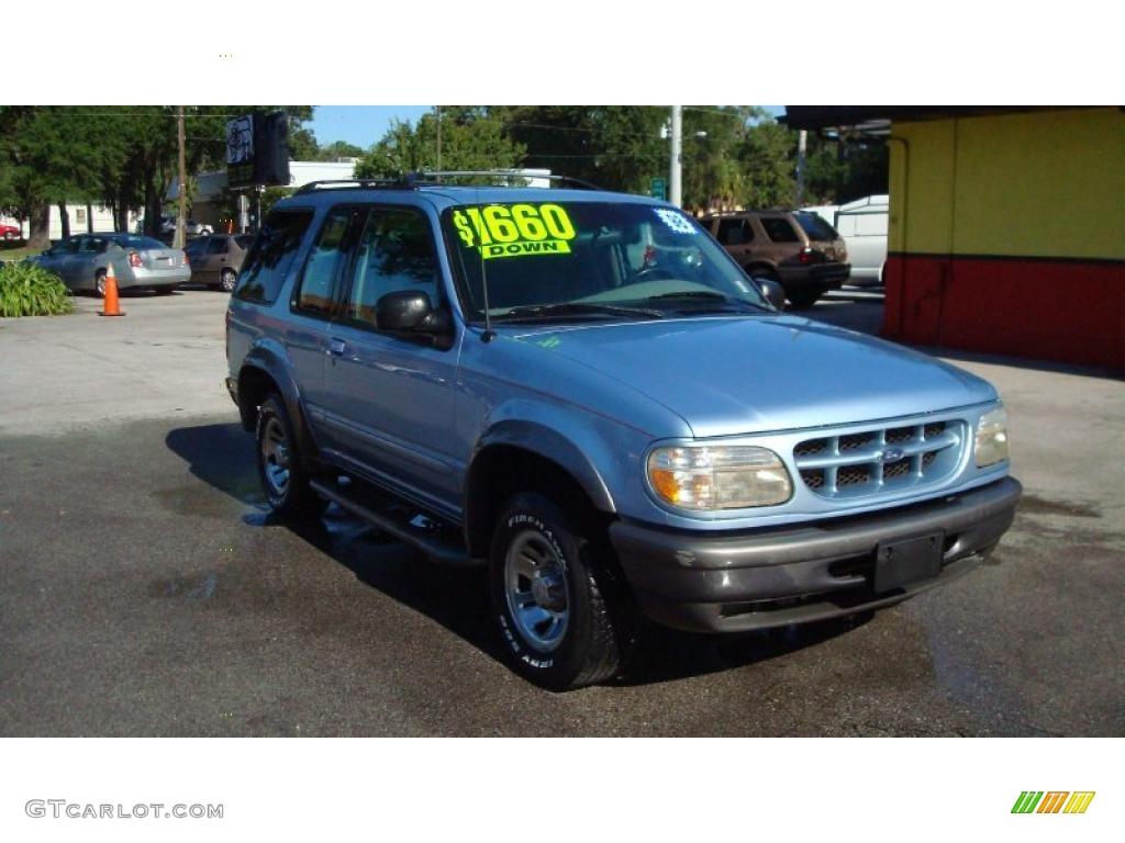 Light denim blue metallic ford explorer