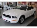 2007 Performance White Ford Mustang V6 Deluxe Convertible  photo #12