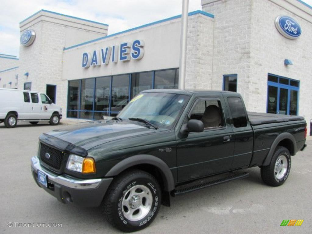 Dark highland green metallic ford ranger