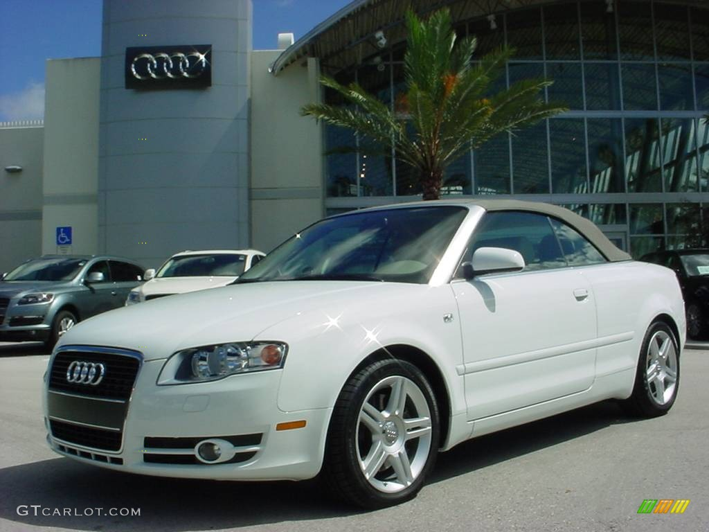 2008 ibis white audi a4 2 0t cabriolet 353881 gtcarlot. Black Bedroom Furniture Sets. Home Design Ideas