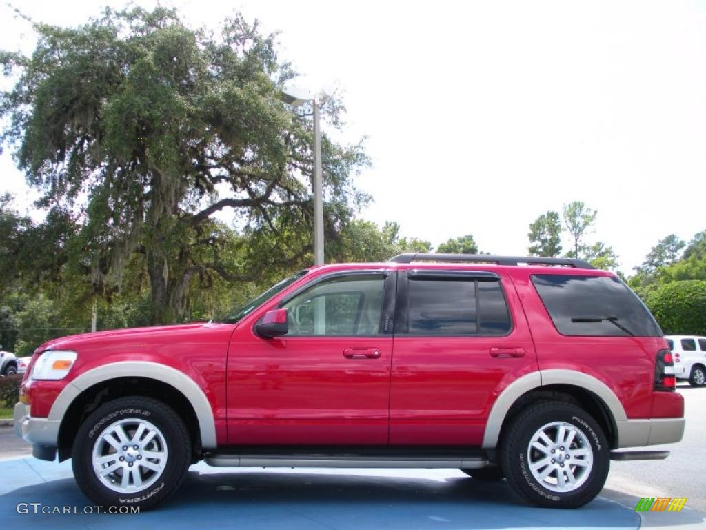 2009 sangria red metallic ford explorer eddie bauer 36622183 photo 2 car. Black Bedroom Furniture Sets. Home Design Ideas