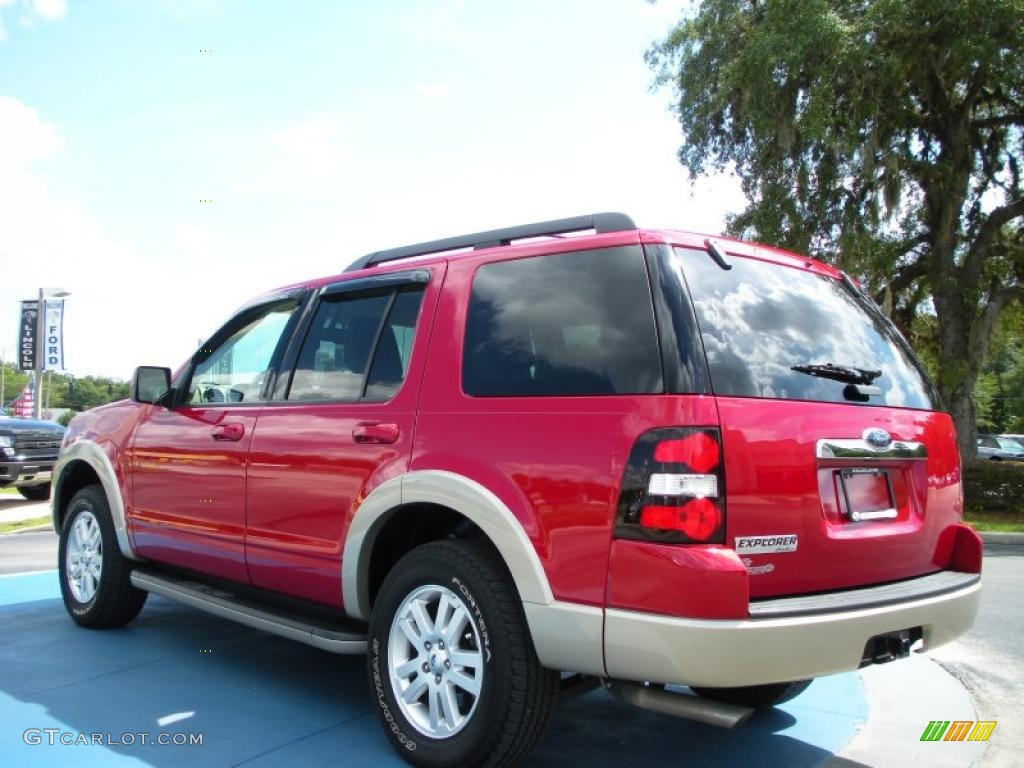 2009 sangria red metallic ford explorer eddie bauer 36622183 photo 3 car. Black Bedroom Furniture Sets. Home Design Ideas