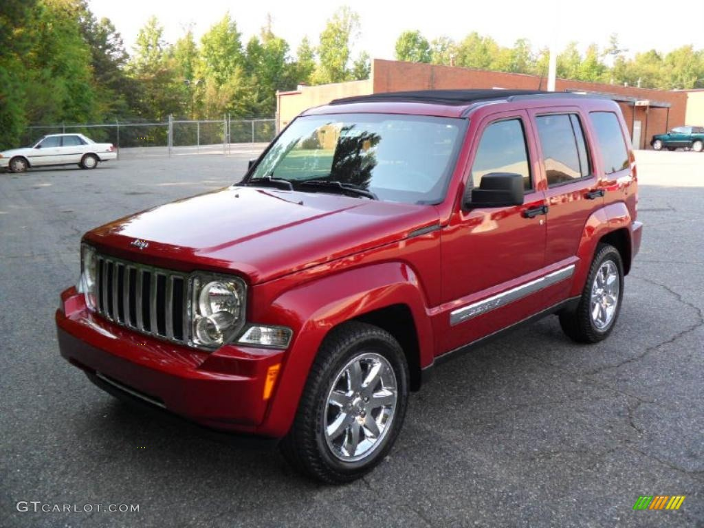 2011 deep cherry red crystal pearl jeep liberty limited #36622998