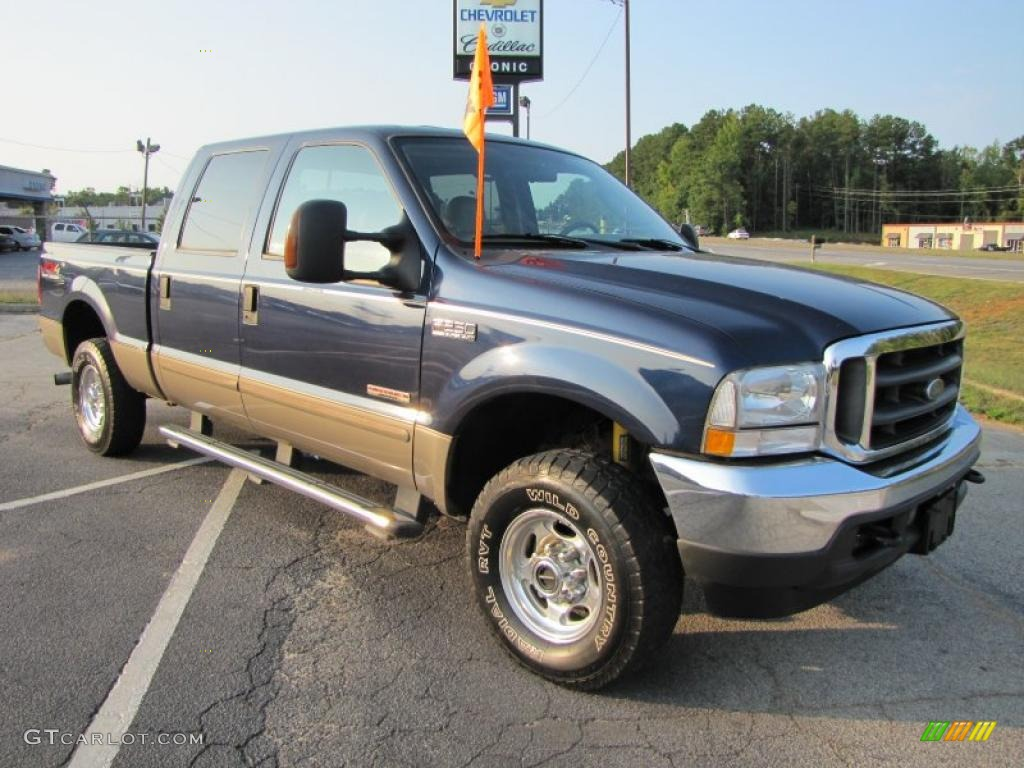 2004 True Blue Metallic Ford F250 Super Duty Fx4 Crew Cab