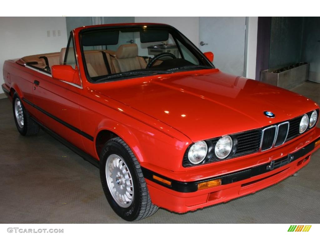1992 3 series 318i convertible brilliant red tan photo 1