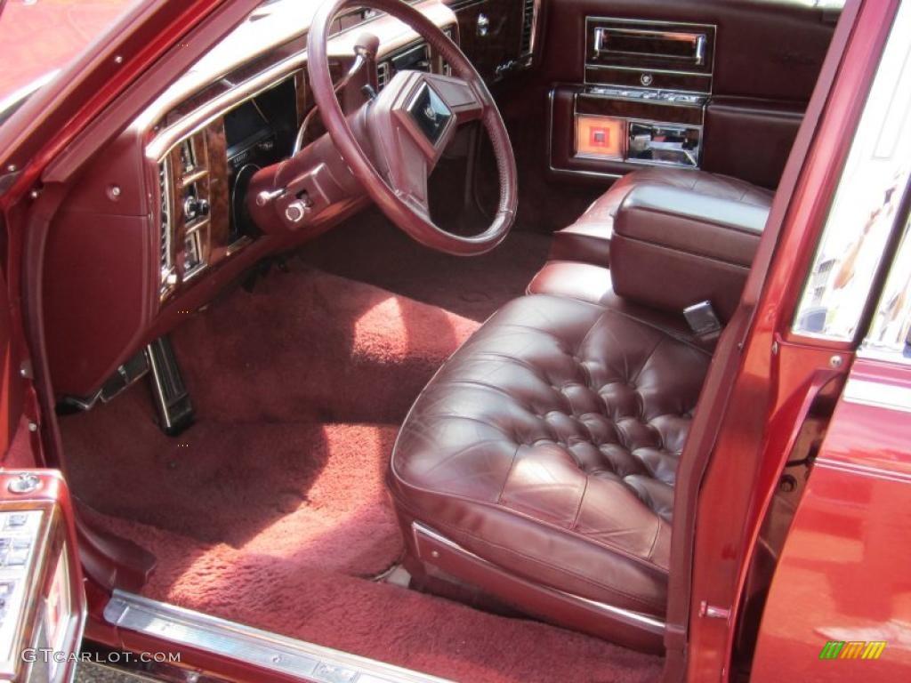 1991 Autumn Maple Red Metallic Cadillac Brougham D 39 Elegance 36751226 Photo 17