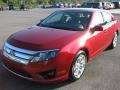 2011 Red Candy Metallic Ford Fusion SE V6  photo #2