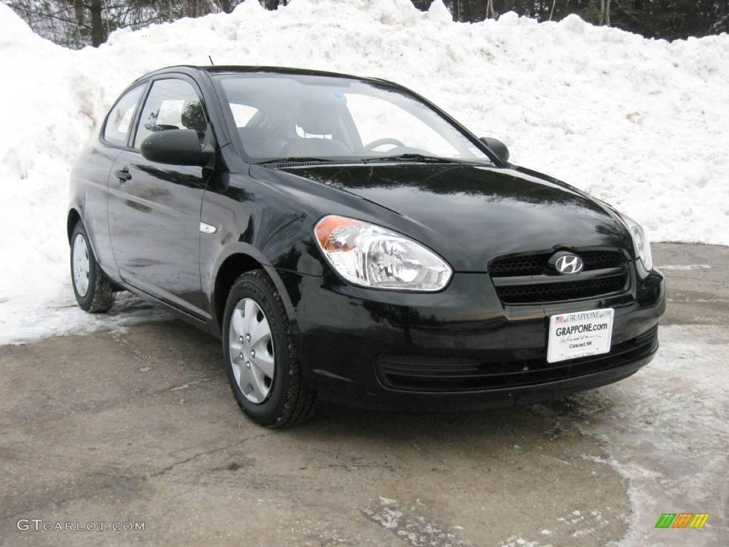 2007 hyundai accent gs coupe ebony black color gray interior 2007 ...