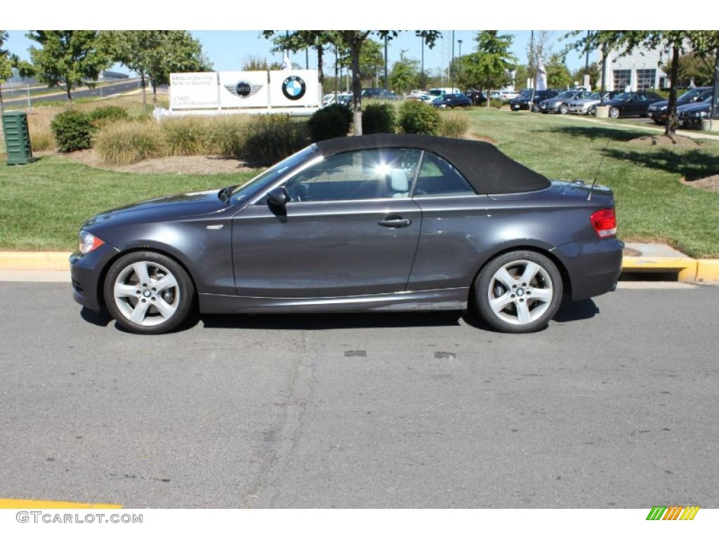 2008 1 Series 135i Convertible Sparkling Graphite Metallic Taupe Photo 3